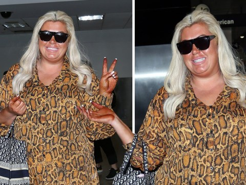 Gemma Collins smiles through awkward fake-tan fail as she hits up swanky Chateau Marmont in LA