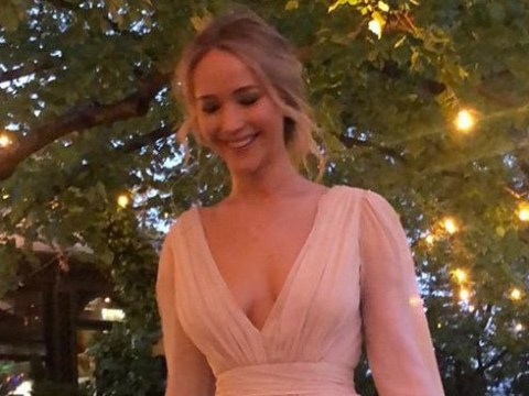 Jennifer Lawrence glows in stunning gown as she celebrates engagement to Cooke Maroney