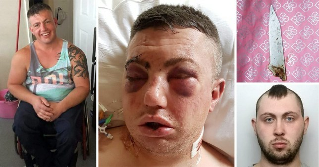 Neil Pearce (left) was stabbed by Jake Bartholomew-Mann (right) outside his home on New Year's Day