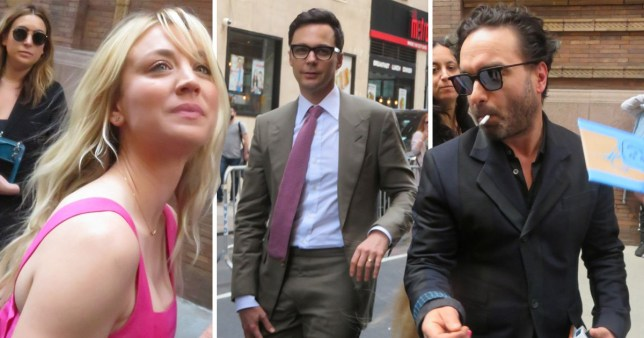 Kaley Cuoco, Jim Parsons and Johnny Galecki from The Big Bang Theory at the upfronts