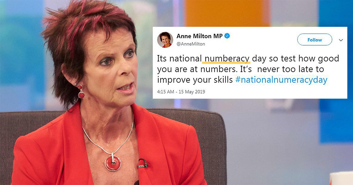 SEC_67610678 Tory Minister for Education and Skills is not a skilled speller
