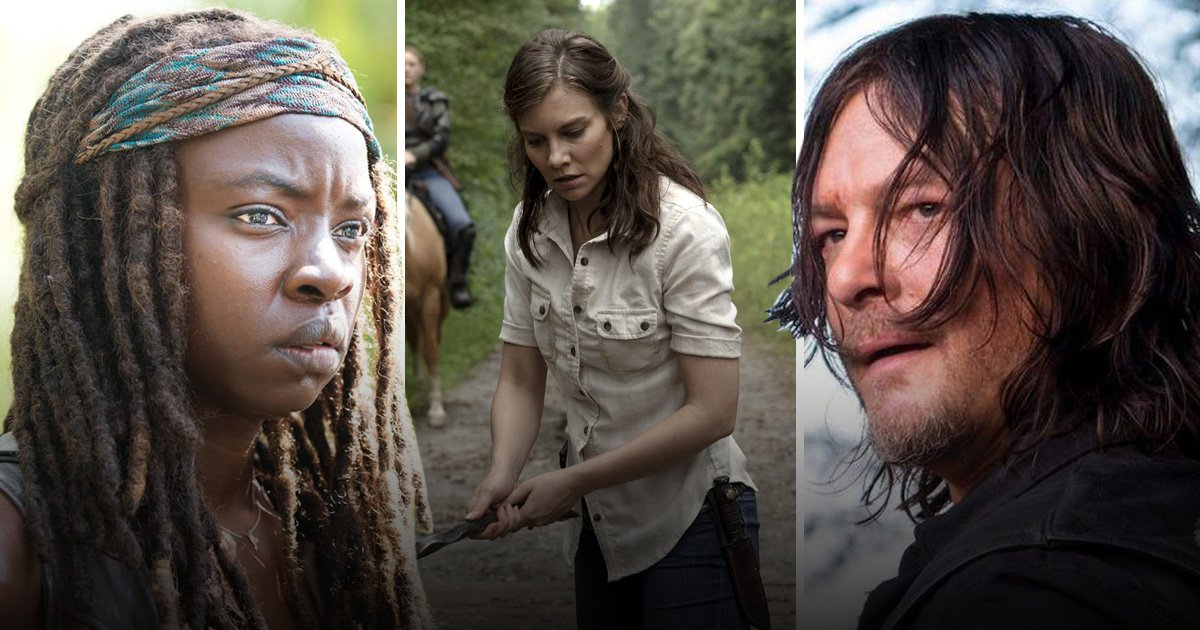 michonne, maggie and daryl from the walking dead