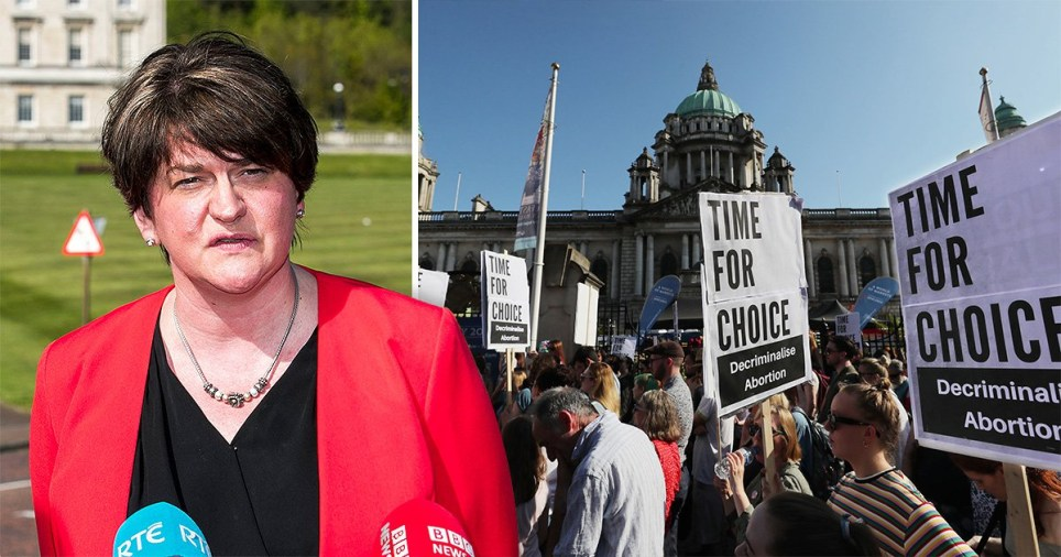 The DUP, under leader Arlene Foster, has repeatedly refused proposals to decriminalise abortion in Northern Ireland