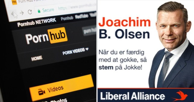 Joachim B. Olsen has gone one step further that his competitors and advertised his campaign on Pornhub.