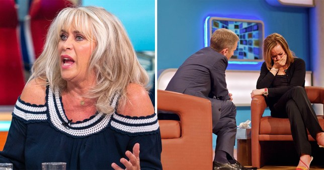 Broadcaster Carole Malone and Jeremy Kyle on The Jeremy Kyle Show with a guest