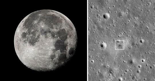 Nasa has found the impact site of the Beresheet spacecraft (PA/NASA)