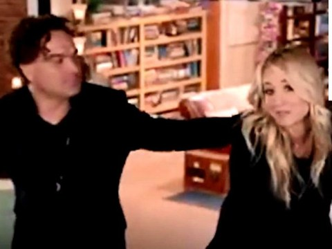 Kaley Cuoco chokes up with tears as she introduces The Big Bang Theory documentary