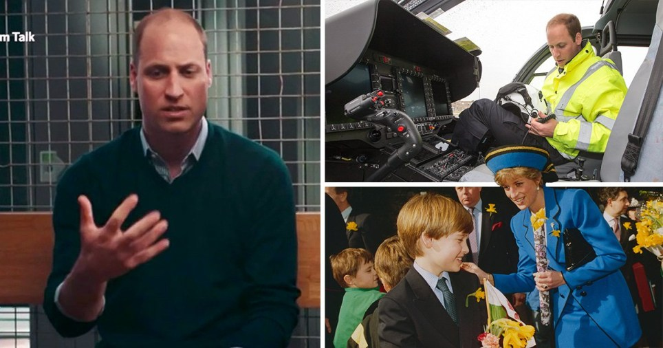 Prince William has opened up about the death of his mother Diana and how it affected his work as an air ambulance pilot