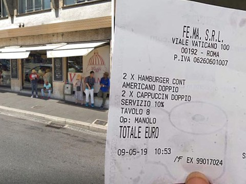 Restaurant in Rome charges tourists £70 for two burgers and three coffees