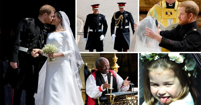 Compilation of best moments from Harry and Meghan's wedding