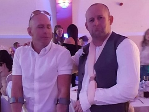 Wedding disaster as best man breaks his arm night before the wedding – half an hour later, the replacement breaks his foot