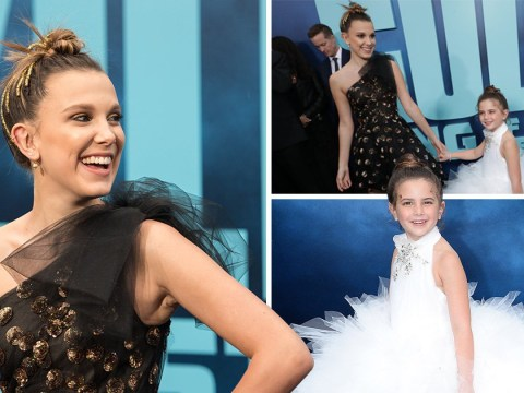 Millie Bobby Brown is upstaged by six-year-old Avengers star at Godzilla premiere and it is so adorable