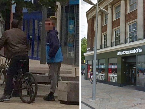 Brave woman steps in to stop men stealing from disabled man in McDonald's