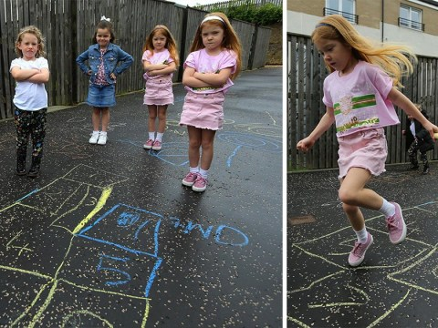 Children told to stop drawing hopscotch in chalk on pavement