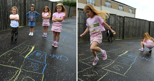 Children are not happy they have been told to stop drawing hopscotch games on the pavement