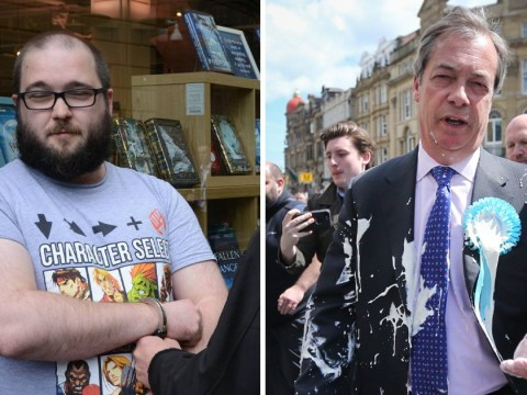 Nigel Farage 'will press charges' against man who threw milkshake