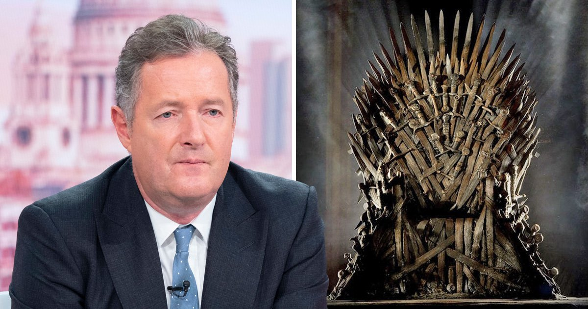 Piers Morgan wants us all to know he doesn't care about the Game of Thrones finale