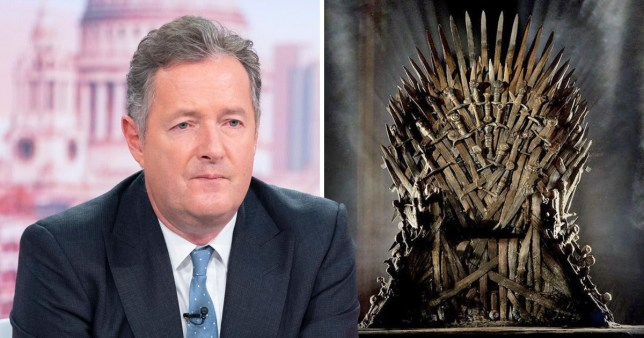 Piers Morgan and the Iron throne