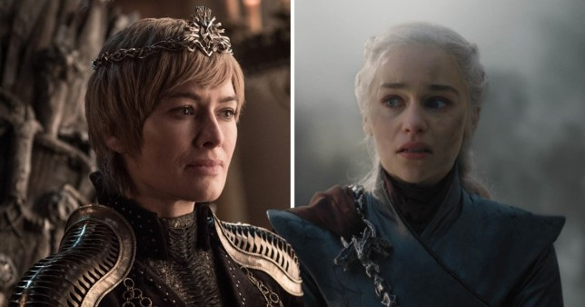 Cersei Lannister, played by Lena Headey and Daenerys Targeryen, played by Emilia Clarke