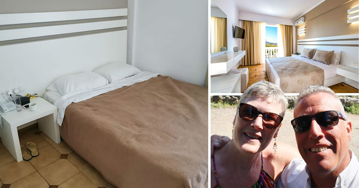 Husband books swanky hotel room but ends up with what looks like a hostel