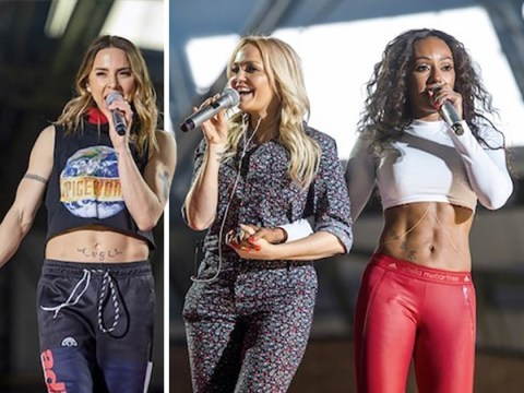 Mel B gets over 'blindness' scare to rehearse for Spice Girls tour