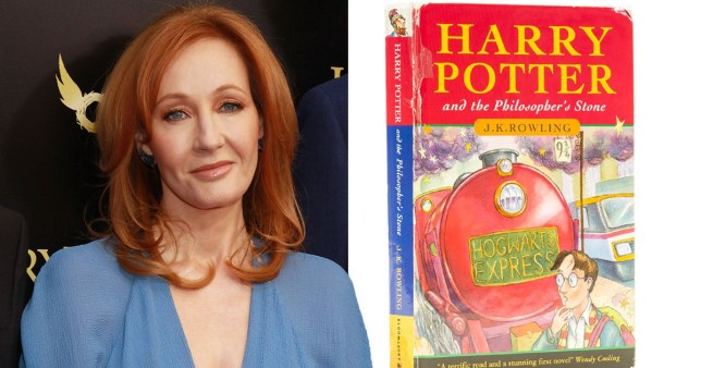 jk rowling and the cover of harry potter and the philosopher's stone