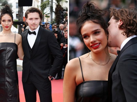 Brooklyn Beckham and girlfriend Hana Cross get loved up for the cameras at Cannes Film Festival