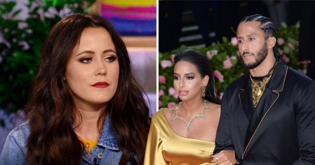 Jenelle Evans at the Teen Mom 2 reunion show and with Nessa Diab and Colin Kaepernick