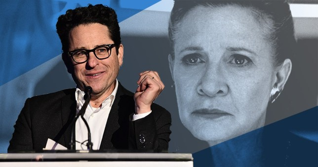 JJ Abrams and Carrie Fisher