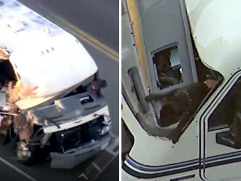 Dog leaps out of stolen motor home during high-speed police chase