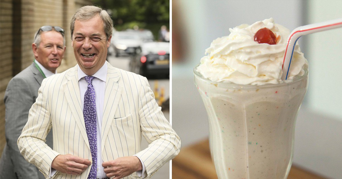 Someone turned Nigel Farage into all the milkshakes and it's strangely accurate