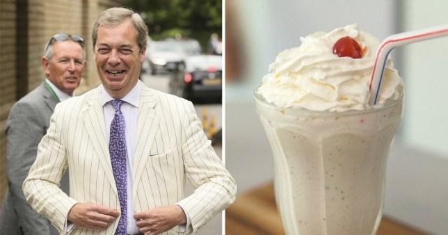 Nigel Farage is turned into all the milkshakes