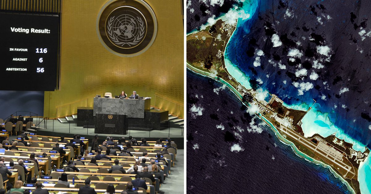 UK told to hand back control of Chagos islands after UN vote
