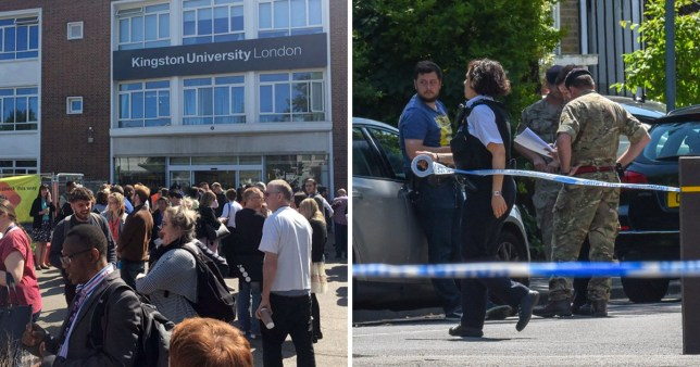 Students and staff at Kingston University have been evacuated for two days