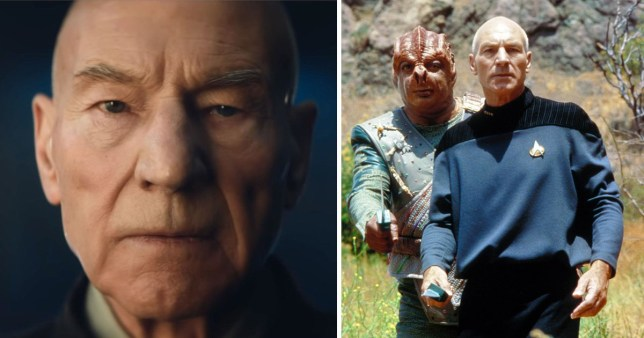 Patrick Stewart as Jean-Luc Picard in Star Trek