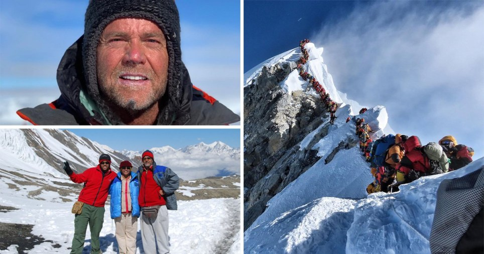 Two climbers died after being made to queue to get to the summit of Mount Everest