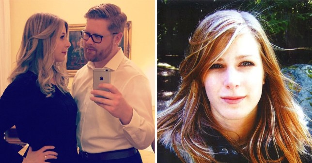 Canadian bride-to-be Christine Archibald, 30 with fiance Tyler Ferguson next to a standalone picture of Christine who was killed in the London Bridge terror attack.