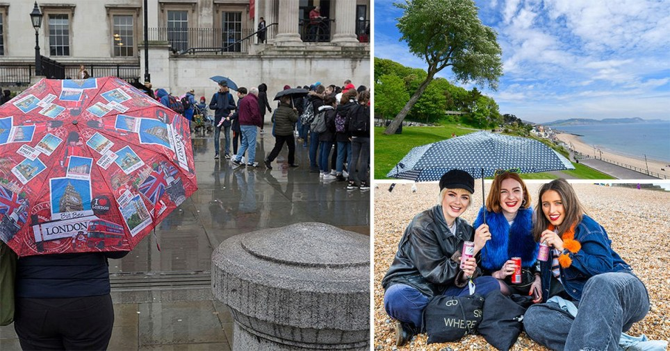 The weather will see both sunshine and showers over the bank holiday