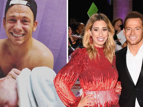 Joe Swash cries as he meets son for first time in emotional photo with Stacey Solomon