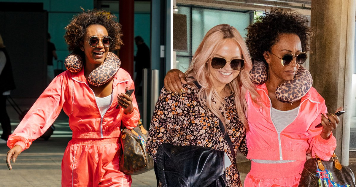 Spice Girls' Mel B and Emma Bunton arrive in London after addressing 'sound issues' on reunion tour