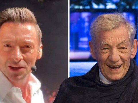 Hugh Jackman gets stadium crowd to wish Ian McKellen happy birthday and we are jealous