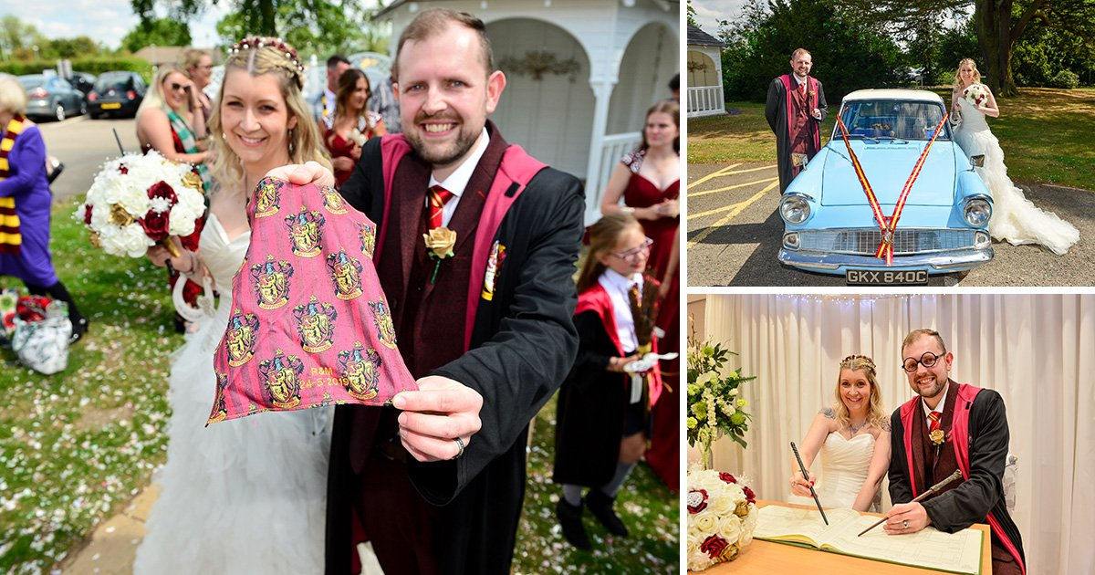 This couple had a magical Harry Potter themed wedding