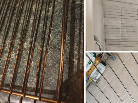 People are obsessed with this easy trick for cleaning dirty oven racks
