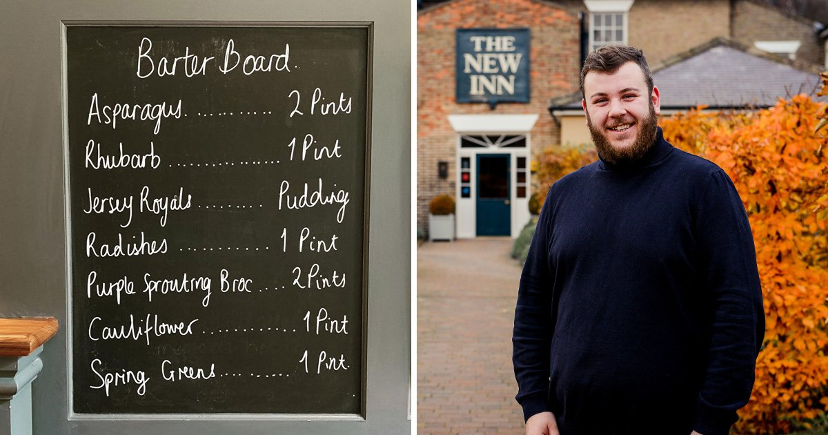 The New Inn pub lets you swap homegrown vegetables for pints