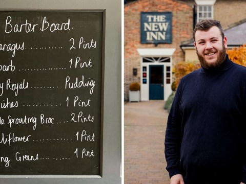 Pub lets you swap homegrown vegetables for pints or puddings