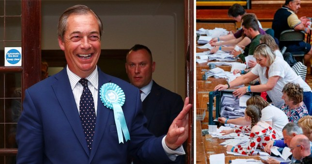 Nigel Farage is winning big in the European elections