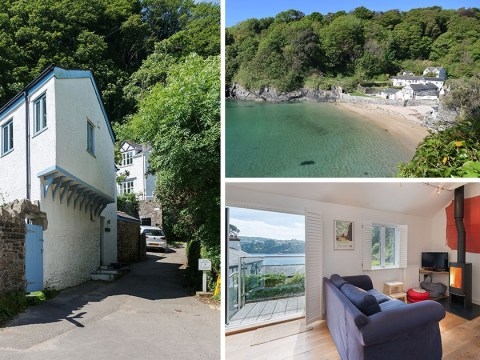 A stunning waterfront home tucked into the Cornish cove is on the market