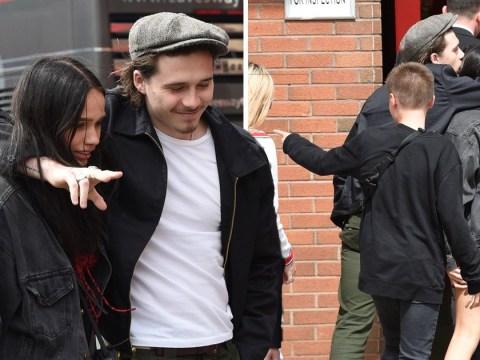 Brooklyn Beckham and girlfriend Hana Cross turn up PDA after 'bust-up'