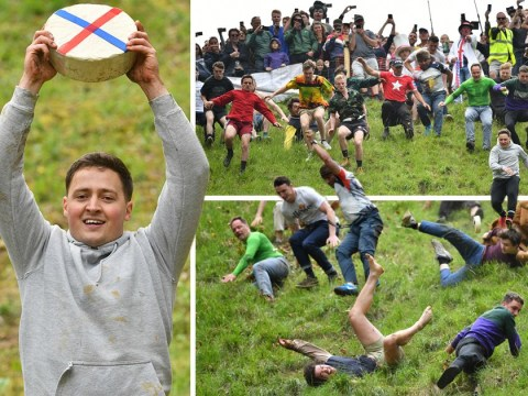 Man who knocked himself out running after cheese returns to become champion