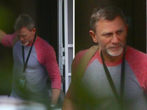 Daniel Craig spotted back in the UK after flying back from Jamaican Bond set with injured ankle